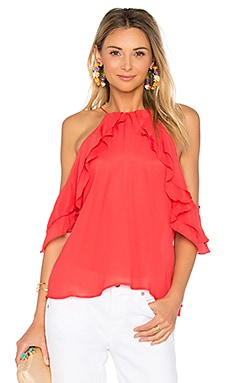 Trudi Solid Top in Sunrise Coral