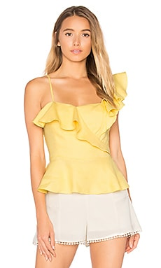 Varadero Linen Top in Yellow