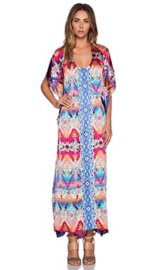 KAS New York Kendra Caftan Maxi Dress in Multi