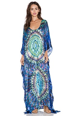 K A S New York Chike Caftan Dress in Multi