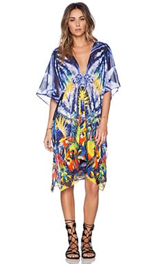 KAS New York Esian Caftan Dress in Multi