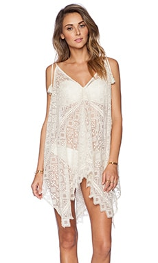 KAS New York Zulaika Lace Dress in Ivory