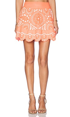 KAS New York Evetta Mini Skirt in Coral