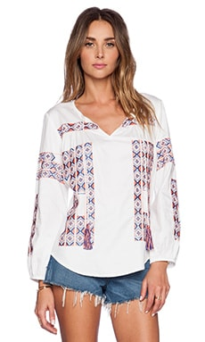 KAS New York Asha Blouse in White