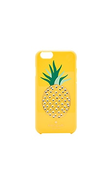 kate spade new york Embellished Pineapple iPhone 6 Case in Lemon Yellow