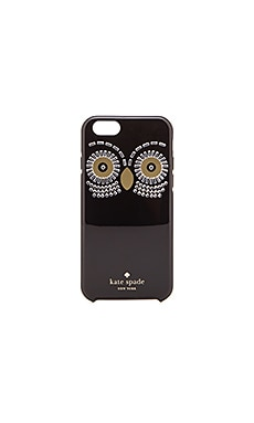 kate spade new york Embellished Owl iPhone 6 Case in Black