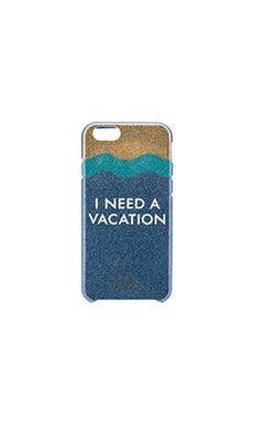 I Need A Vacation Glitter iPhone 6/6s Case in Blue Multi