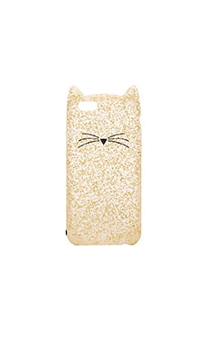 Glitter Cat iPhone 6/6s Case em Gold Glitter