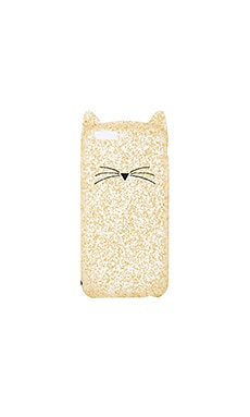 Glitter Cat iPhone 7 Case in Gold