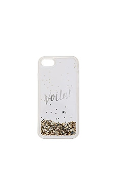 Liquid Glitter Viola iPhone 7 Case en Couleur Or & Transparent