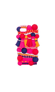Silicone Pom Pom iPhone 7 Case in Multi