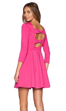 kate spade new york Ponte Flirty Back Dress in Sweetheart PInk