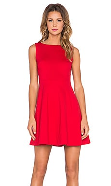 kate spade new york Bow Back Dress in Spicy Red