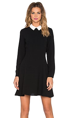 kate spade new york Sequin Collar Crepe Dress in Black