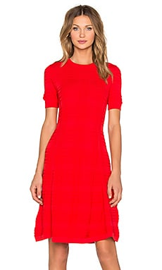 kate spade new york Textured Scuba Shift Dress in Lollipop Red