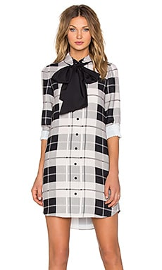 kate spade new york Woodland Plaid Griffin Dress in Pumice