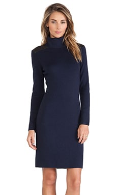 Kate Spade New York Patch Leather Sweater Dress in Rich Navy