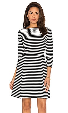 kate spade new york Stripe Everyday Dress in Cream & Black