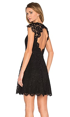 kate spade new york Rose Lace Mini Dress in Black