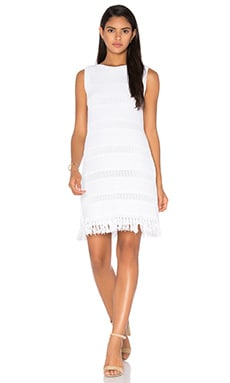 kate spade new york Fringe Sweater Dress in Fresh White