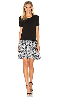kate spade new york Hollyhock Pleated Skirt Dress in Black