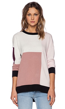 Kate Spade New York Colorblock Slouchy Sweater in Neutral Multi