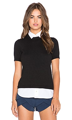 kate spade new york Shirttail Sweater in Black