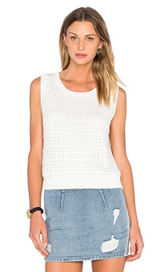 kate spade new york Open Stitch Sleeveless Sweater in Fresh White