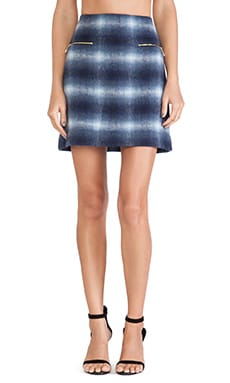 Kate Spade New York Zip Pocket Mini Skirt in Blue