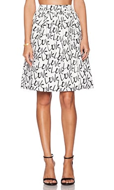 kate spade new york Love Cupcake Skirt in Open White