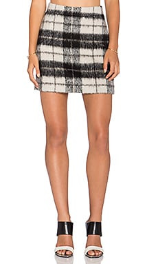 Woodland Check Mini Skirt en Pumice
