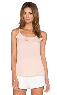 kate spade new york Ruffle Front Cami in Shell