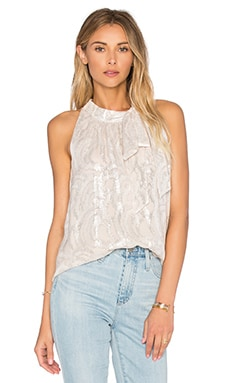 Fern Clipped Chiffon Top