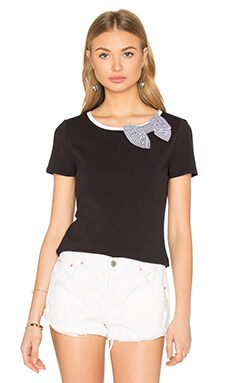 kate spade new york Bow Tee in Black