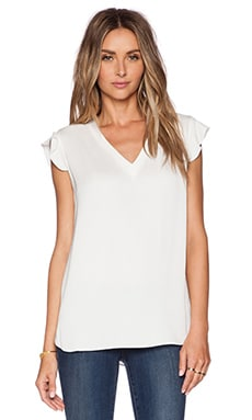 kate spade new york Flutter Sleeve Top en Open White