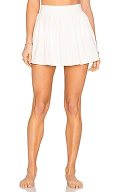 Pleated Skirt Cover Up in Cream