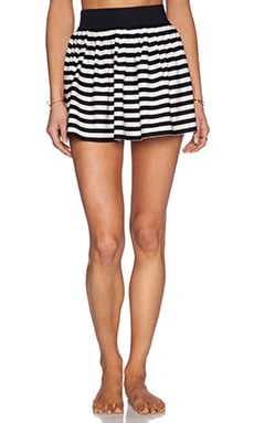 kate spade new york Georgica Beach Stripes Mini Skirt in Black