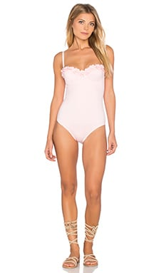kate spade new york Playa De Palma Underwire One Piece in Pastry Pink