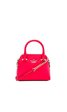 kate spade new york Mini Maise Crossbody in Cherry Liqueur