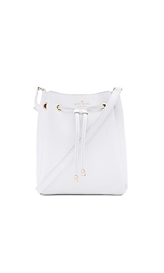 Harriet Bucket Bag in Bright White