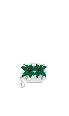 kate spade new york Palm Tree Coin Purse in Multi