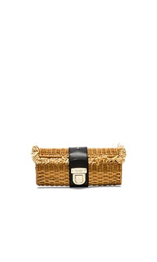 kate spade new york Teela Clutch in Natural & Black