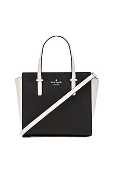 kate spade new york Small Hayden Tote in Black Pebble