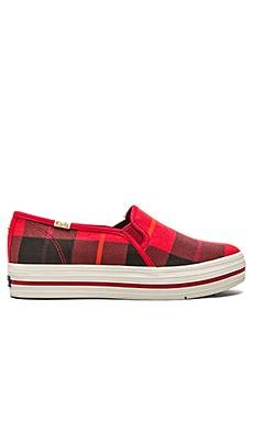 kate spade new york Decker Sneaker in Red Plaid