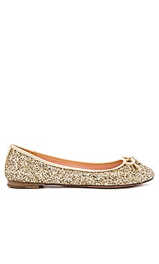 kate spade new york Willa Flat in Gold Glitter