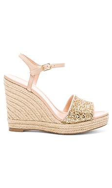 kate spade new york Jaden Heel in Gold Glitter & Natural