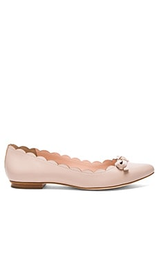 kate spade new york Eleni Flat in Pale Pink Nappa