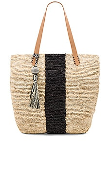 Pipeline Tote Bag in Natural & Black