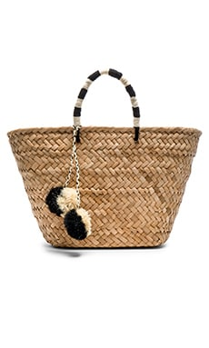 KAYU St Tropez Tote Bag in Black & White