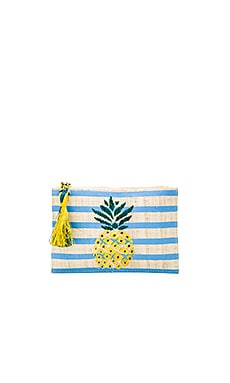Pineapple Clutch in Blue